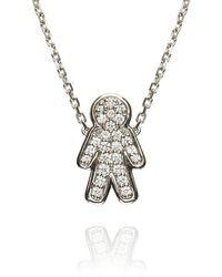 Alinka Jewellery Misha Necklace White Gold - Multicolour
