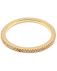 Rosa De La Cruz Eternity Ring - Metallic