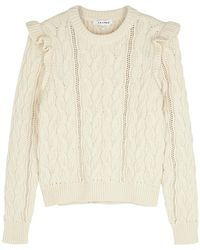 FRAME - Sofia Cream Cable-knit Cotton-blend Jumper - Lyst