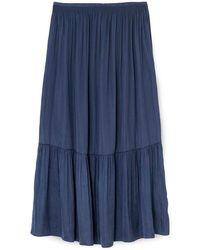 Jigsaw Crocus Drape Midi Skirt - Blue