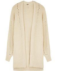 Free People Nightingale Ivory Chunky-knit Cardigan - White