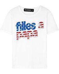 Filles A Papa - U.s.a Flag Logo T-shirt - Lyst