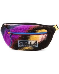 Stella McCartney Striped Fleece Belt Bag - Multicolour