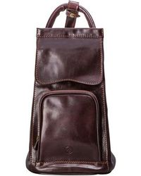 Maxwell Scott Bags - Italian Crafted Black Leather Sling Rucksack For Women - Lyst
