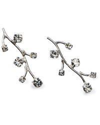 APPLES & FIGS Silver Ivy Earrings - Metallic