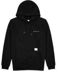 MKI Miyuki-Zoku Black Hooded Cotton-blend Sweatshirt