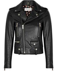 Saint Laurent - Black Leather Jacket - Lyst