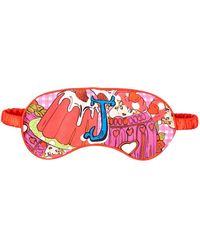 Jessica Russell Flint J For Jelly Printed Silk Eye Mask - Red