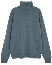 Boglioli - Light Blue Roll-neck Wool Jumper - Lyst
