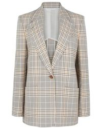 Acne Studios - Jana Checked Cotton-blend Blazer - Lyst