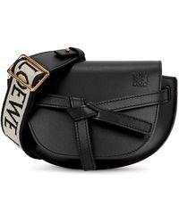 Loewe Gate Dual Mini Black Leather Cross-body Bag