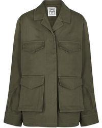 Totême Army Green Cotton Jacket