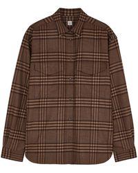 Totême Novella Brown Checked Flannel Shirt