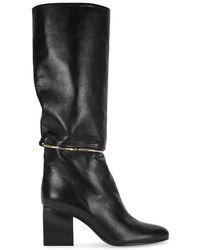 Jil Sander - Black Leather Knee Boots - Lyst