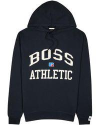 BOSS by HUGO BOSS X Russell Athletic Navy Cotton Sweatshirt - Blue