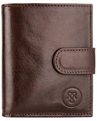 Maxwell Scott Bags Pietre Small Wallet - Brown