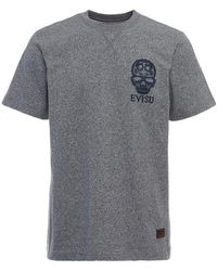 Evisu - Daruma Skull Embroidered T-shirt - Lyst