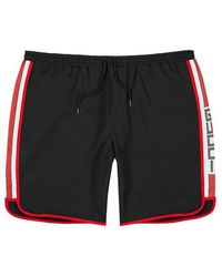 Gucci - Black Logo Shell Swim Shorts - Lyst
