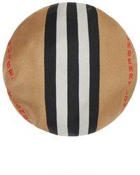 Burberry Icon Stripe Silk Chignon Cover - Natural