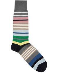 Paul Smith - Fennel Striped Cotton Blend Socks - Lyst