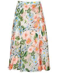 Alice + Olivia - Nanette Floral Silk Devoré Skirt - Lyst