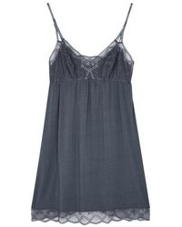 Eberjey - Astrid Lace-trimmed Jersey Chemise - Lyst