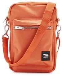 WOOD WOOD Rena Orange Nylon Cross-body Bag