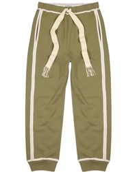 Loewe Olive Cotton-jersey Joggers - Green