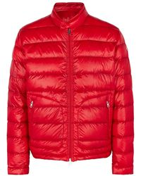 Moncler Acorus Red Quilted Shell Jacket
