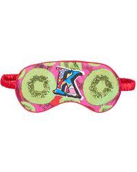 Jessica Russell Flint K For Kiwi Printed Silk Eye Mask - Green