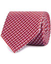 Eton of Sweden - Red Silk Jacquard Tie - Lyst