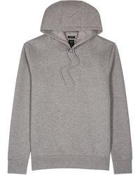 BOSS by HUGO BOSS T-stevenson Hooded Cotton-blend Sweatshirt - Grey