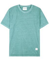 MKI Miyuki-Zoku Turquoise Cotton T-shirt - Blue