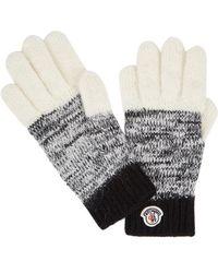 Moncler - Panelled Wool-blend Gloves - Lyst
