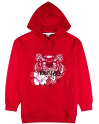 81bb07a2 KENZO - Tiger-embroidered Cotton Sweatshirt - Lyst