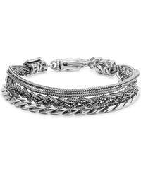 Emanuele Bicocchi Sterling Silver Chain Bracelet - Metallic