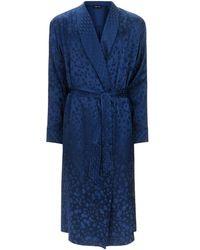 Meng - Silk Jacquard Dressing Gown - Lyst