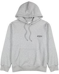 Wooyoungmi Gray Logo Hooded Cotton Sweatshirt