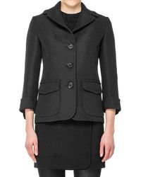 Max Studio - Jacquard Fitted Jacket - Lyst