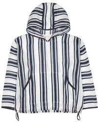 Tory Burch - Awning Striped Linen Top - Lyst