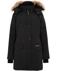 Canada Goose Trillium Fur Trim Parka - Black