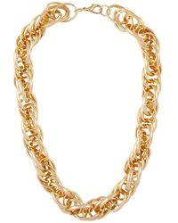 Susan Caplan 1990s Vintage Gold Plated Statement Chain Necklace - Metallic