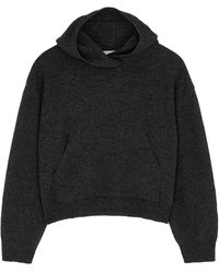 Nanushka Mog Charcoal Wool-blend Sweatshirt - Gray