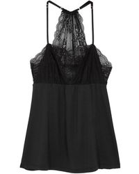 Eberjey - Vika Matinee Black Jersey Camisole - Lyst