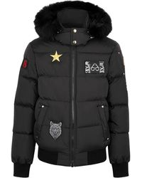 Moose Knuckles Colinton Black Fur-trimmed Bomber Jacket