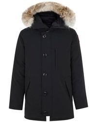 Canada Goose - The Chateau Black Fur Trimmed Padded Twill Parka - Lyst