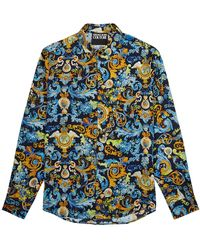 Versace Jeans Couture Baroque-print Shirt - Blue