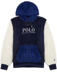 Polo Ralph Lauren Colour-blocked Logo Fleece Sweatshirt - Blue