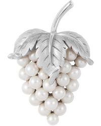 Susan Caplan 1960s Vintage Trifari Faux Pearl Grape Bunch Brooch - Multicolour