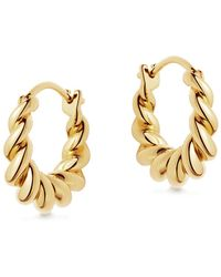 Missoma Tidal Mini 18kt Gold Vermeil Hoop Earrings - Metallic